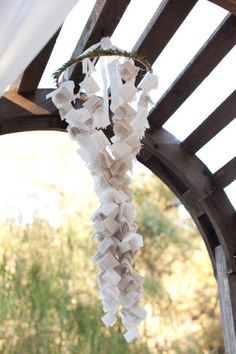 fabric flower mobile