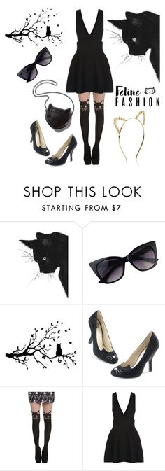 """""""Fancy Cat Fashion"""" by starspy ❤ liked on Polyvore featuring STELLA McCARTNEY, New Look and Monsoon"""