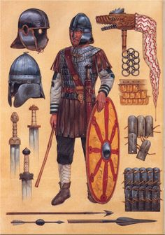 Celtic and Germanic armour 600 AD