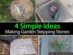 4 Simple Ideas For Making Garden Stepping Stones