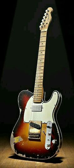 Andy Summers' famous Fender Telecaster with the additional Humbucker pickup. One switch reverses phase, and the other turns an active preamp on and off (the third knob is preamp gain) Fender Stratocaster, Telecaster Vintage, Fender Guitars, Gretsch, Vintage Guitars, Telecaster Custom, Rare Guitars, Guitar Art, Music Guitar