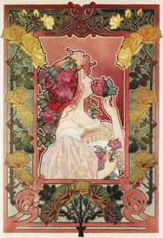 The Scent of a Rose, Henri Privat-Livemont Poster design by Henri Privat-Livemont advertising J.C. Boldoot perfumes, ca. 1899.**