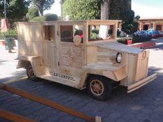 Pocket : TLAXCOMOVIL Carro de madera (wood car)