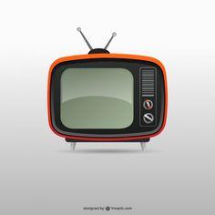 Retro tv Free Vector Vintage Tv, Cartoon Tv, Cartoon Drawings, Tv Retro, Portable Tv, Quality Carpets, Retro Vector, Mickey Mouse, Vector Freepik