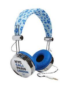 Blue Cheetah Headphones #Justice #music
