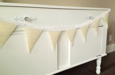 Custom bunting and garlands made to suit your celebration. Fabric Bunting, Garlands, Valance Curtains, Celebration, Wedding Decorations, Suit, Design, Home Decor, Wreaths