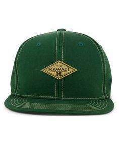 Top of the World Hawaii Warriors Diamonds Snapback Cap - Green Adjustable  Trucker Hats aa92ee03b06e