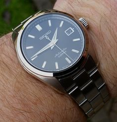 Seiko Men's Japanese-Automatic Watch with Stainless-Steel Strap, Silver, 20 (Model: Best Looking Watches, Cool Watches, Watches For Men, Wrist Watches, Seiko Sarb, Seiko Watches, Beautiful Watches, Watch Brands, Men's Collection