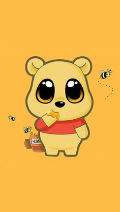 animal, background, bear, bee, cute