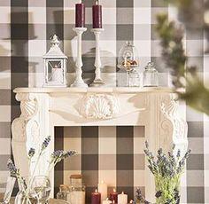 White Wood Kerzenständer