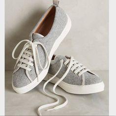 Kmb Grey Felt Sneakers