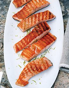 Grilled Salmon with Lime Butter Sauce | Gourmet