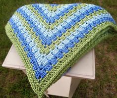 7Alive all Livin' in a Double Wide: Granny Square Baby Blanket