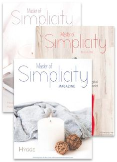 Bimonthly magazine about minimalism, simple living and wellness created by Fátima Teixeira, the founder of the project Master of Simplicity.  Here you read about minimalist life, simplicity, organisation, intentional living, sustainability and healthy lifestyle! You can also find news, catalogs and discount coupons!  This one-time purchase will allow you to read 6 issues from Master of Simplicity Magazine ENG on issuu.com. #issuu Discount Coupons, Simple Living, Magazine Covers, Hygge, Declutter, Sustainability, Minimalism, Healthy Lifestyle, Place Card Holders