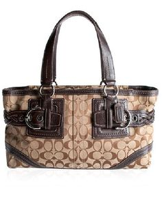 Coach Soho Signature Zip Satchel Handbag-COACH-Fashionbarn shop