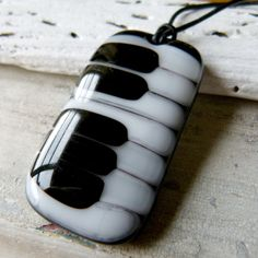 Piano necklace  fused glass jewelry  Fused glass by ArtoftheMoment,
