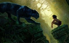 Mowgli Bagheera Black Panther The Jungle Book - This HD Mowgli Bagheera Black Panther The Jungle Book wallpaper is based on The Jungle Book N/A. It released on N/A and starring Neel Sethi, Bill Murray, Ben Kingsley, Idris Elba. The storyline of this Adventure, Drama, Family, Fantasy N/A is about: After a threat from the tiger Shere Khan... - http://muviwallpapers.com/mowgli-bagheera-black-panther-jungle-book.html #Bagheera, #Black, #Book, #Jungle, #Mowgli, #Panther #Movies