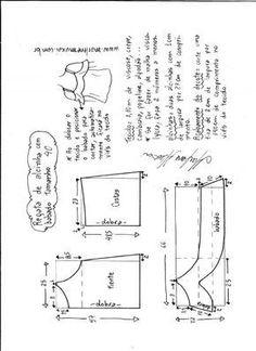 Esquema de modelagem de regata de alcinha com babado tamanho 40.