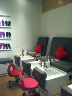 Pedicure Stations at Chesnut Hill MiniLuxe.