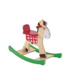 Rocking Horses   Children's Rocking Horses with Saddle & Rosette   ELC UK Toy Shop
