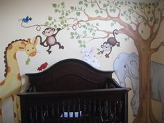 safari or junngle themed nursery | Jungle-Themed Nursery