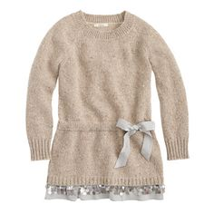 J.Crew - Girls' sweater dress with sparkle trim