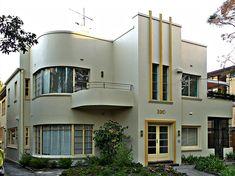Art Deco and Art Nouveau! Architecture Design, Facade Design, Exterior Design, House Design, Building Architecture, Modern Exterior, Exterior Colors, Deco Furniture, Design Furniture