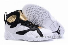 b9214b281d1fcd Nike Air Jordan 7 Retro C C Championship Pack Champagne White Metallic Gold  Black Kids Shoes