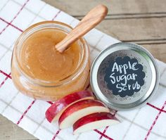 This sweet Apple Sugar Scrub mixture will make you think of brisk walks in the cool, crisp, autumn air, with naturally exfoliating properties including vitamins A and C for a healthy glow.