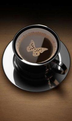 Butterfly coffee *¨¨*:Coffee♥Art:*¨¨*