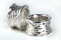 Chunky Silver Ring Solid Silver Ring Big Silver by FineJewelryAS