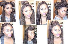 7 Styling Ideas For Heavy Braids [Video] - http://community.blackhairinformation.com/video-gallery/braids-and-twists-videos/7-styling-ideas-heavy-braids-video/