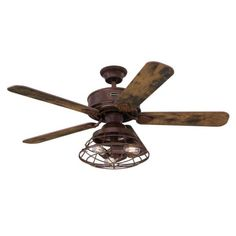 Westinghouse Barnett 48 in. LED Barnwood Ceiling Fan with Light Kit and Remote Control 7220500 - The Home Depot