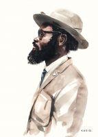 fashion portrait  kasiq.com Watercolor Fashion, Watercolor And Ink, Watercolor Portraits, Watercolor Paintings, Generation Z, Art Drawings Sketches, Beautiful Artwork, Fashion Sketches, Girl Fashion