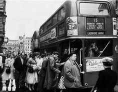London transport RTW seen on route 15 towards Ladbroke Grove at Charing Cross station in the late 1950's.