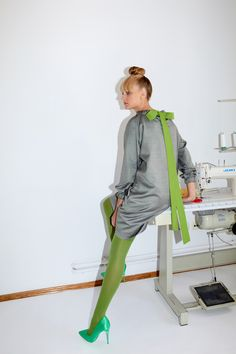 Framboise - Silk and wool blend dress