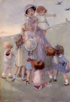 """""""Nurse's Song"""" - illustrated by Honor C. Appleton 1921"""