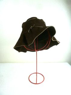 a9db7a1a2d Vintage Suede Brown Floppy Hat