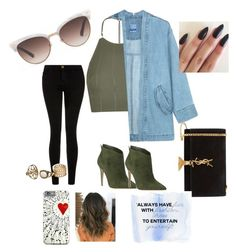 """""""Spring"""" by mayapriskilla on Polyvore featuring Topshop, Steve J & Yoni P, Gucci, Current/Elliott, Gianvito Rossi and Yves Saint Laurent"""