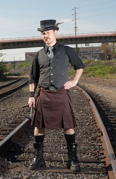 Steampunk - Modern Utility Kilts - StumpTown Kilts. $185.00, via Etsy.