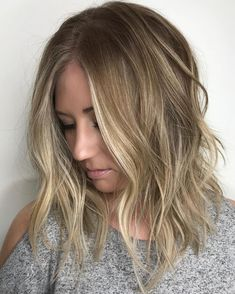 Messy Choppy Lob For Fine Hair