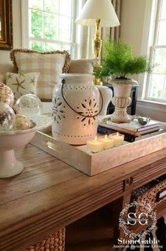 40 Smart ideas to decorate the table of the living room