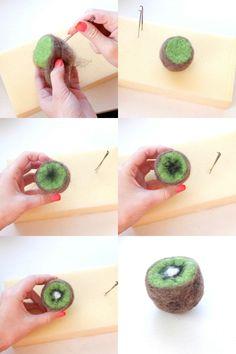How To: Needle Felted Fruit - Kiwi