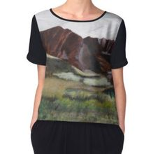 'Makua Valley, Oahu, HI' Women's Chiffon Top available on various products at http://www.redbubble.com/people/chrisjoy/works/5248668-makua-valley-oahu-hi