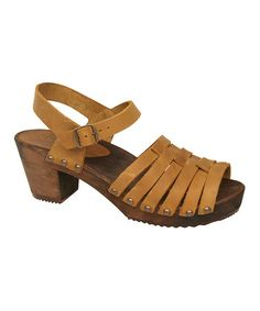 Take a look at this Curry Karmen Square Sandal - Women by Sanita on #zulily today!