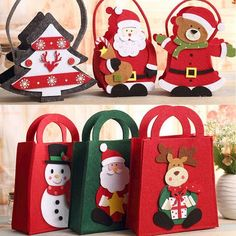 We are a gift bag manufacturers,gift bag suppliers,gift box manufacturers,gift box suppliers in china,which can custom gift bags and custom gift boxes. Christmas Craft Fair, Crochet Christmas Gifts, Diy Christmas Presents, Felt Christmas Decorations, Christmas Gift Bags, Felt Christmas Ornaments, Christmas Love, Christmas Wrapping, Christmas Crafts