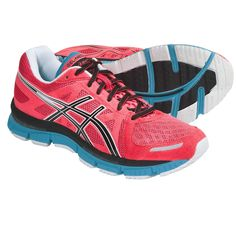 $79.95 Asics GEL-Neo33 Running Shoes (For Women) in Electric Coral/Black/Neon Blue