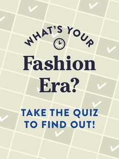 Roaring 20's? Nifty 50's? Find out which daring decade matches your fashion sense!