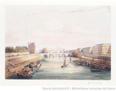 la seine paris xixe les deux rives la hauteur des tuileries