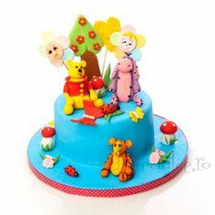 Winnie the Pooh si prietenii sai Winnie The Pooh, Birthday Cake, Desserts, Food, Tailgate Desserts, Deserts, Winnie The Pooh Ears, Birthday Cakes, Essen